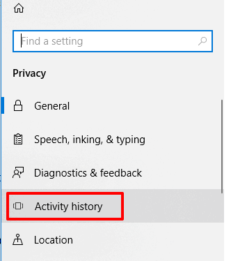 select activity history