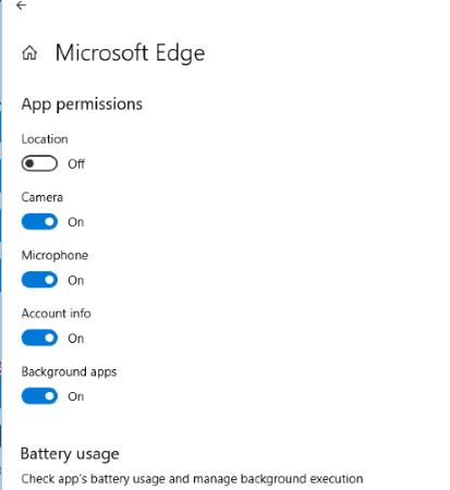 set app permissions in windows 10
