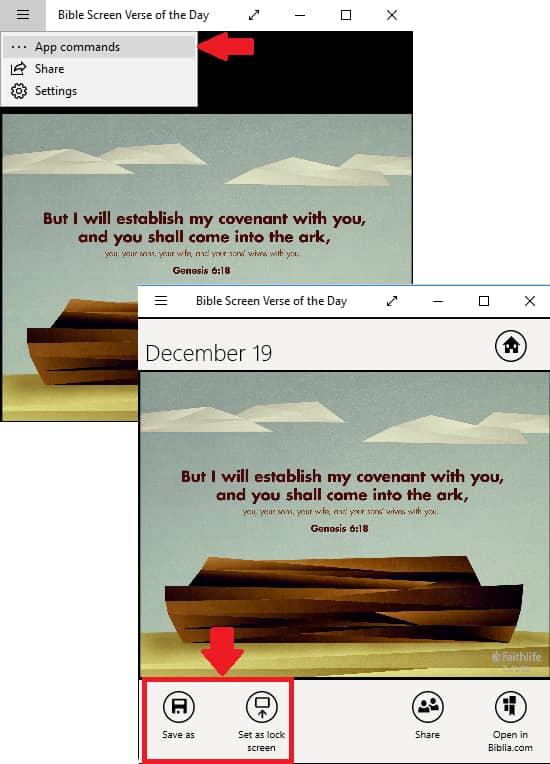 set bible verse as lock screen on demand