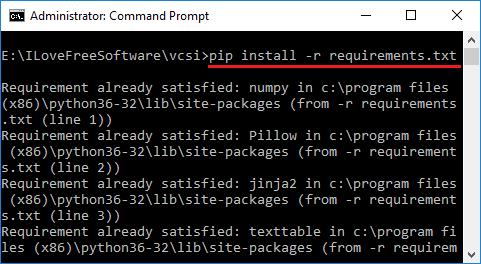 vcsi install dependecies