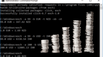 Currency Exchange Rate in Command Prompt, Convert Currency