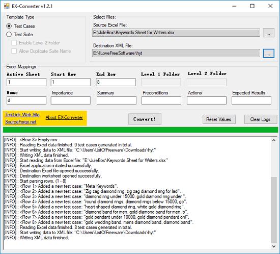 Ex-Converter convert excel to xml