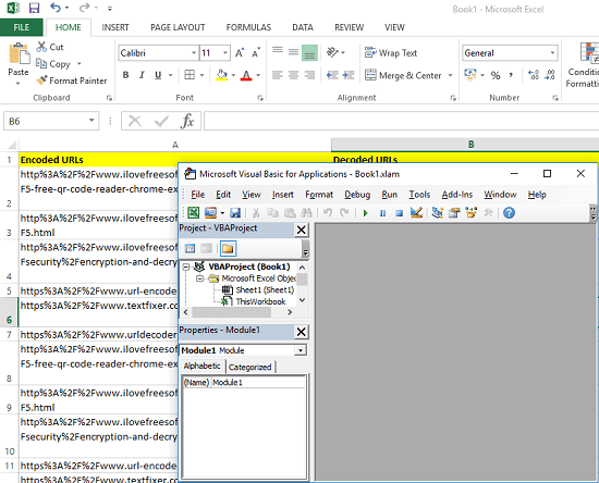 How to Bulk Decode URLs in Excel