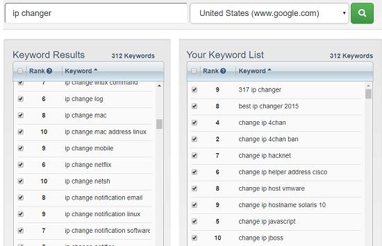Google Suggestion Tool by Keyword Tool Dominator