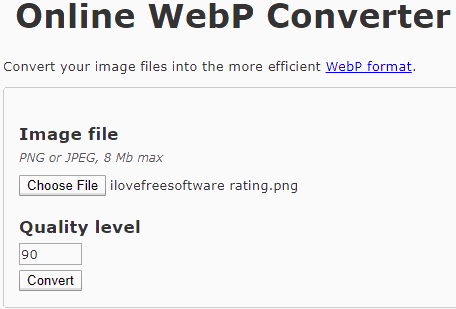 Online WebP Converter