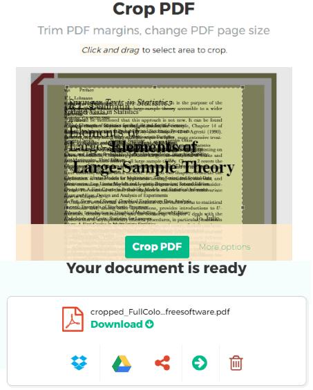 Sejda Crop PDF