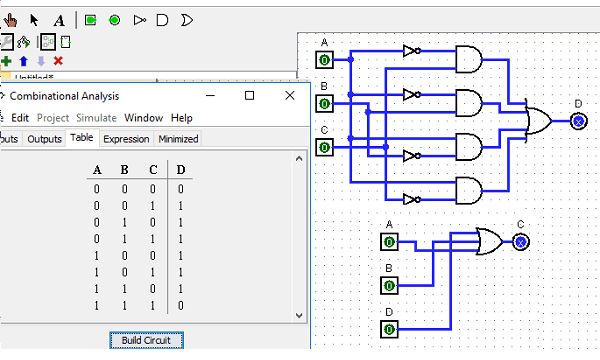 Free Truth Table to Logic Circuit Converter Software for Windows