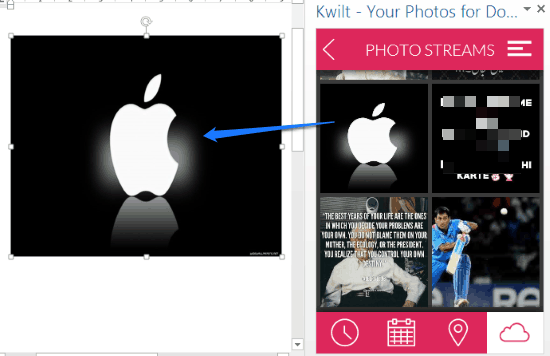 add facebook photos to ms word