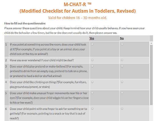 AutismCanada.org: autism test for toddlers
