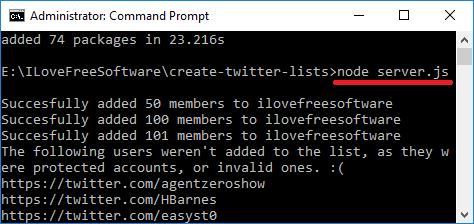 create twitter list add members