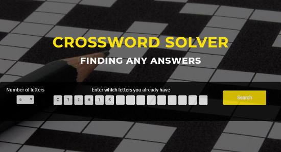 Solver-Crossword.com: crossword clue solver