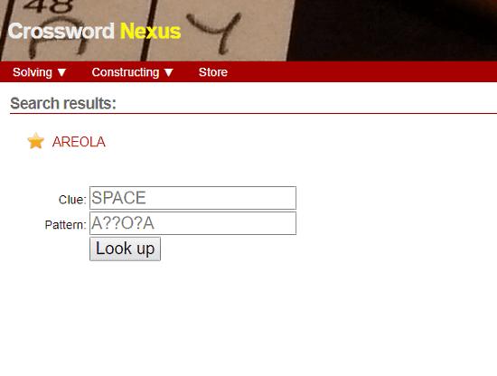 CrosswordNexus.com: crossword clue solver