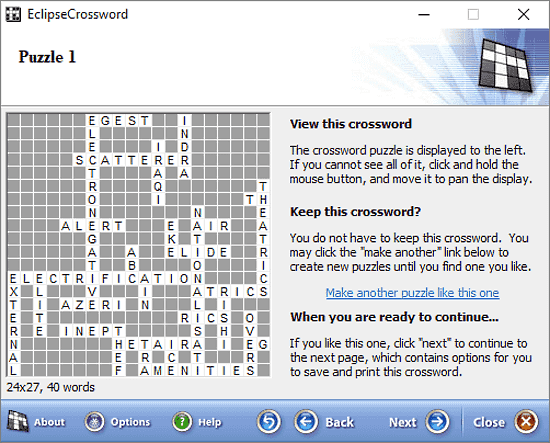 Eclipse Crossword: crossword puzzle maker software