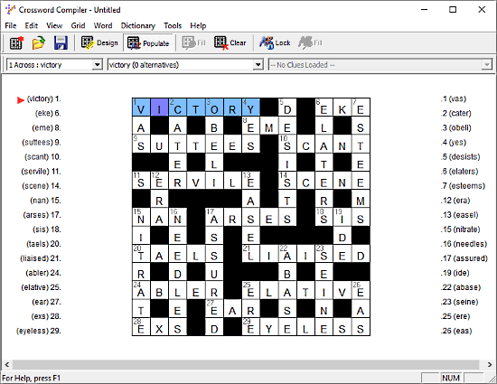 Crossword Compiler: crossword maker software