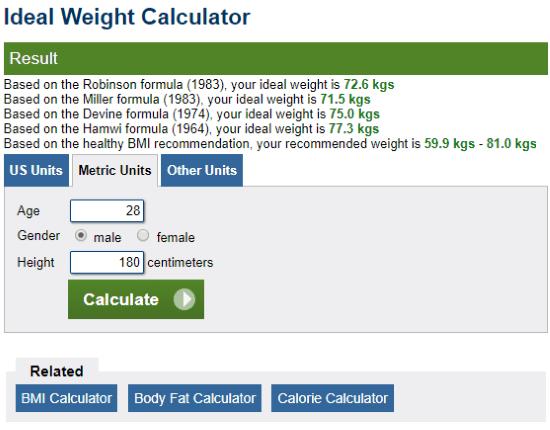 5 Best Online Ideal Weight Calculator Websites