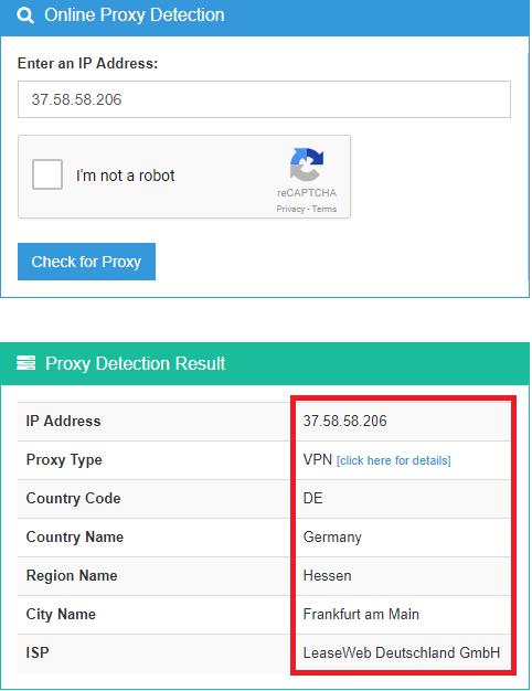 ip2proxy online proxy detection