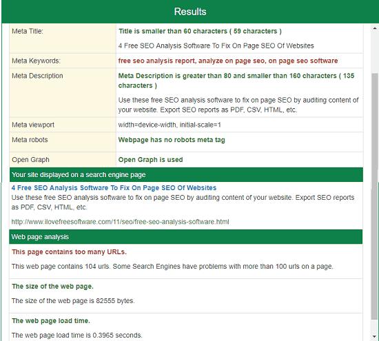 meta tag analyzer by small seo tools