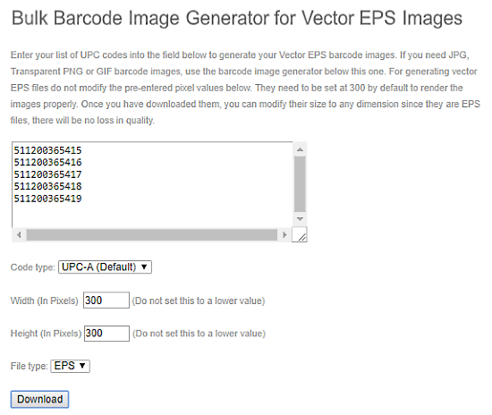 Free Online Batch Barcode Generator Websites