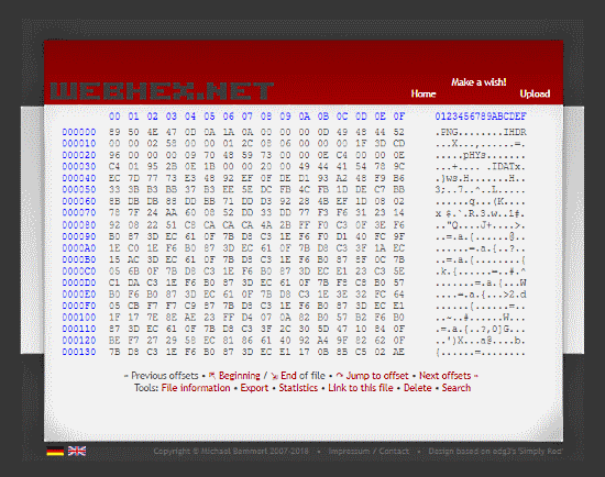 WebHex.net: online hex viewer