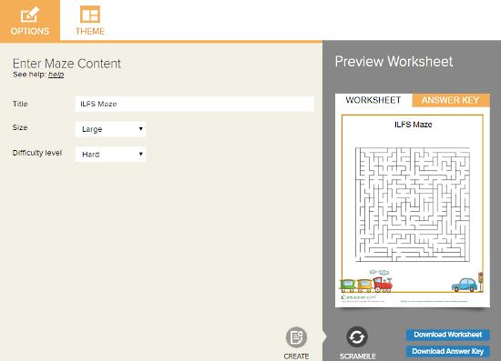 Education.com: online maze generator