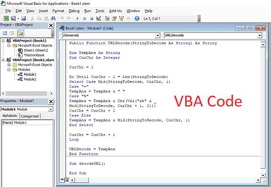 How to Bulk Decode URLs in Excel