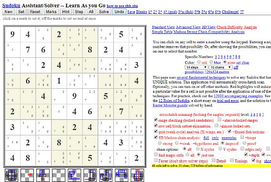 Stolaf.edu: step by step sudoku solver
