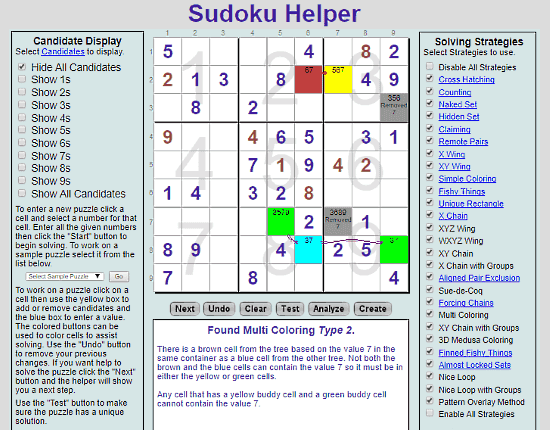 Sudoku.IronMonger: step by step sudoku solver
