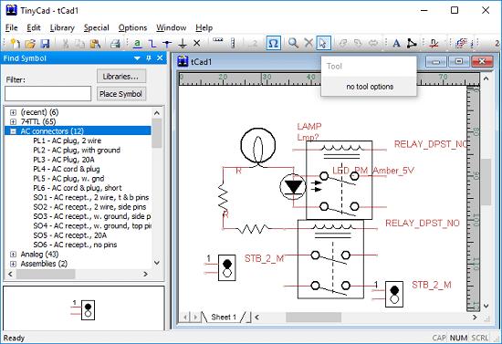 tinycad electrical diagram creator