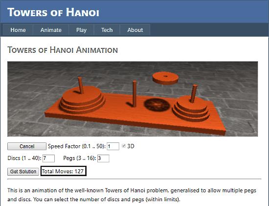 TowerOfHanoi.info: tower of hanoi solver