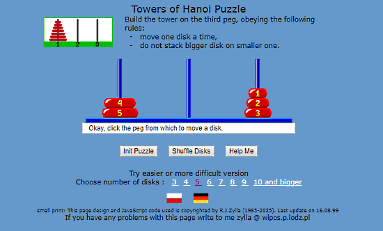 Jaapsch.net: tower of hanoi solver