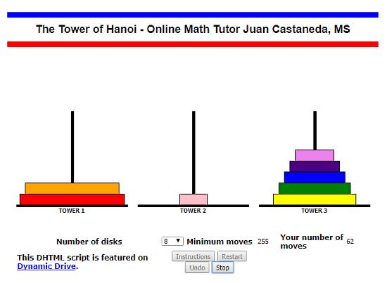 SDMath.com: tower of hanoi solver