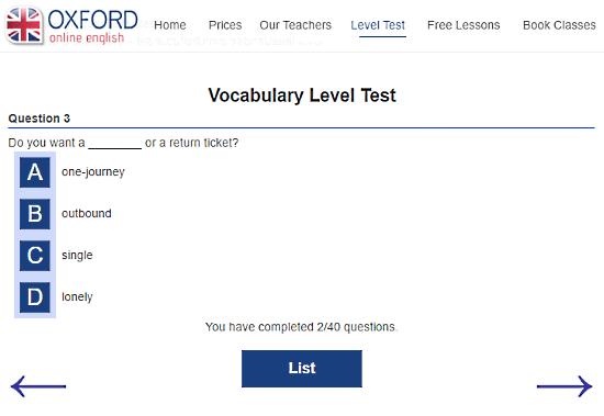 OxfordOnlineEnglish.com: test English vocabulary