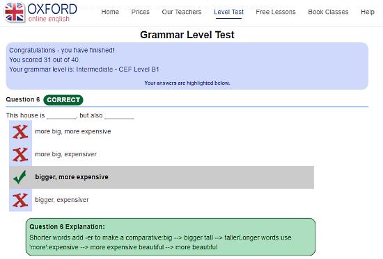 OxfordOnlineEnglish.com: online english grammar text