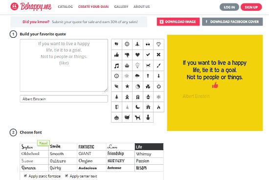 BeHappy: online quote maker