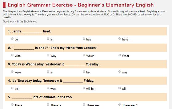 Check Your English Grammar Level With 11 Online Grammar Test