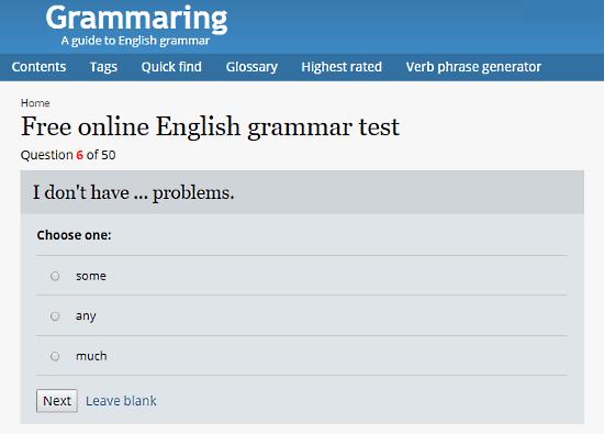 Grammaring.com: online english grammar text