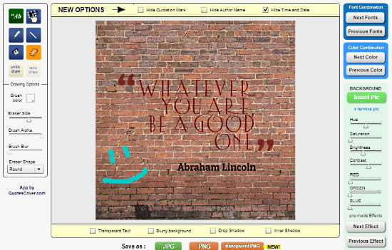 QuotesCover: online quote maker