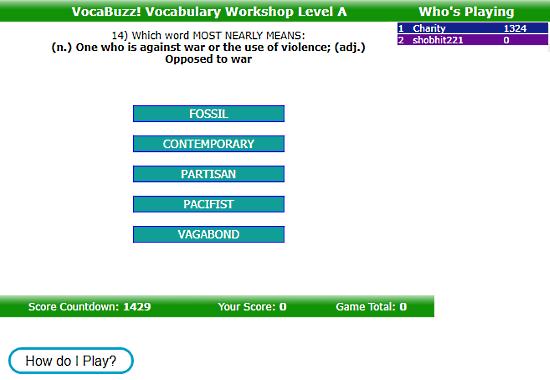VocabTest.com: test English vocabulary