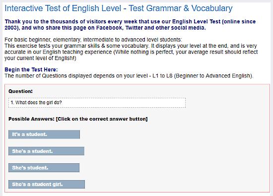 Learn4Good.com: online english grammar text