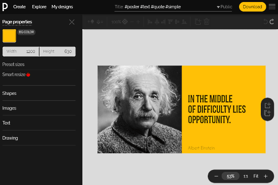 Pixteller: online quote maker