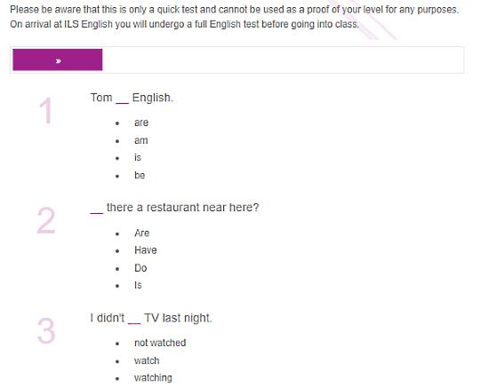 ILSEnglish.com: online english grammar text