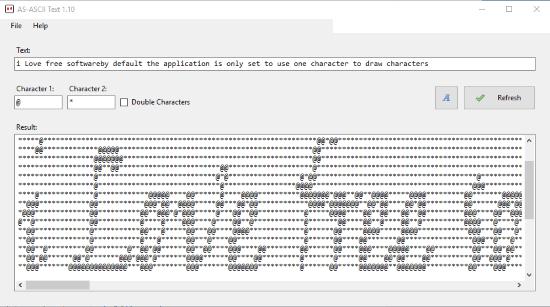 AS-ASCII Text- interface