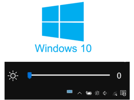Free Brightness Control Slider Software for Windows 10