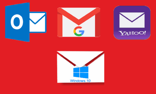 Free Email Apps for Windows 10 to use Gmail, Yahoo, Outlook