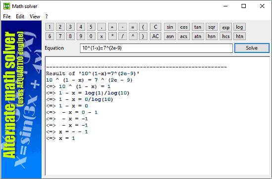Math Solver: exponential equation calculator