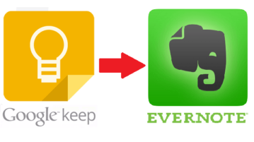 Transfer Google Keep Notes to Evernote