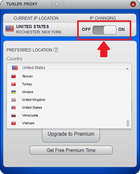 Tuxler VPN for Windows ina ction