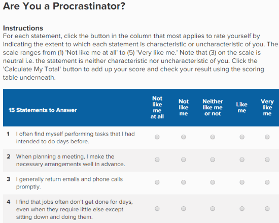 Am I A Procrastinator? 5 Best Online Procrastination Test