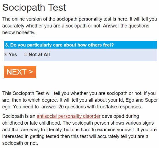 what if i am a sociopath