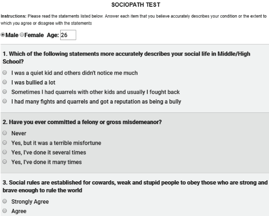 which sociopath are you quiz